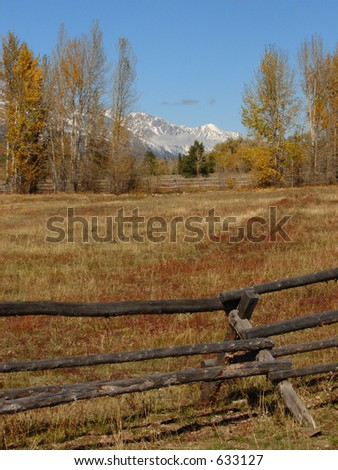 Autumn Tetons Ranch View