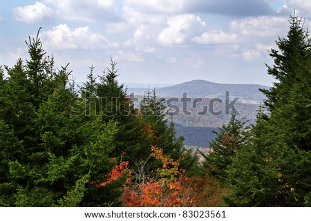 Autumn View From Spruce Knob, West Virginia Horizontal with Copy Space