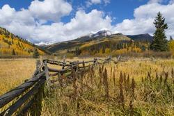 Autumn view of Engineer Mountain near Durango, Colorado.