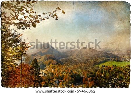 autumn vista - artistic retro picture
