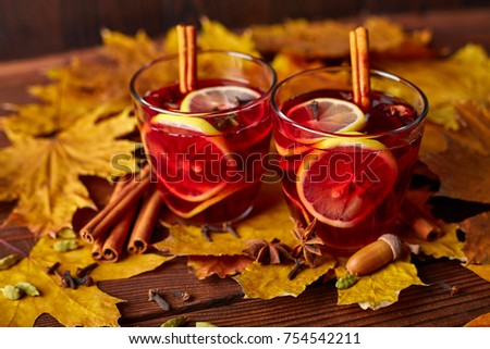 Shutterstock Autumn warming drink. Hot mulled wine, with lemon, anise, cinnamon, cloves, cardamom.
