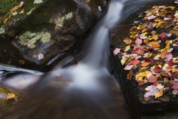 Autumn Waterfall, Chute-aux-Rats in Mount Tremblant National Park