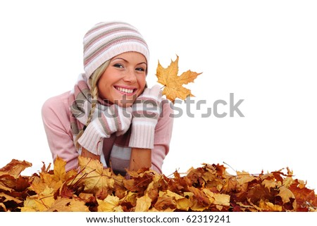 autumn woman in studio