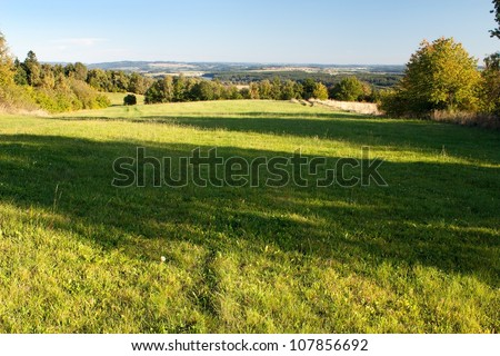 autumny scenery  from Bohemian and Moravian highland - Czech Republic - Europe