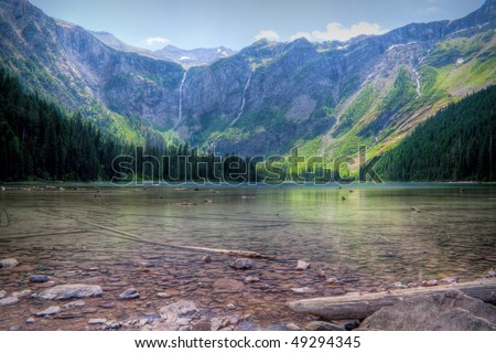 Avalanche Lake in Glacier National Park, Montana