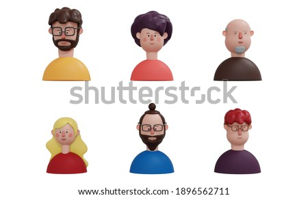 avatar of 3d render character with different ages group