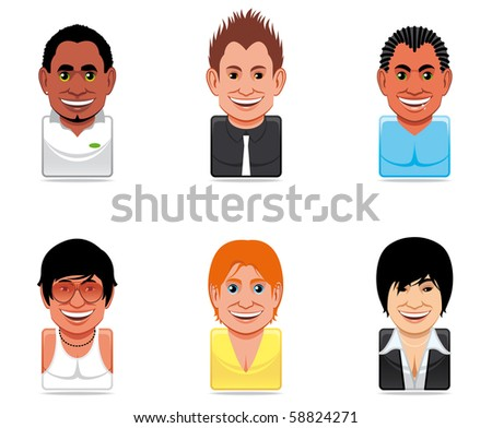 Avatar people icons - stock photo