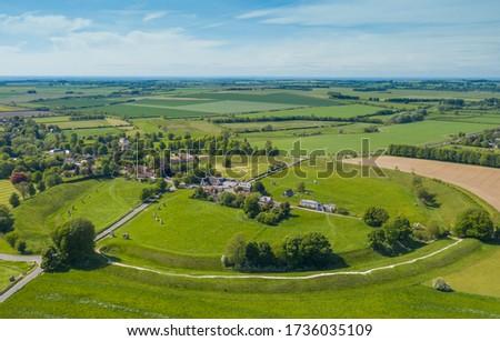 Avebury Village and neolithic Stone Circle ,Wiltshire ,England,UK Stock photo ©