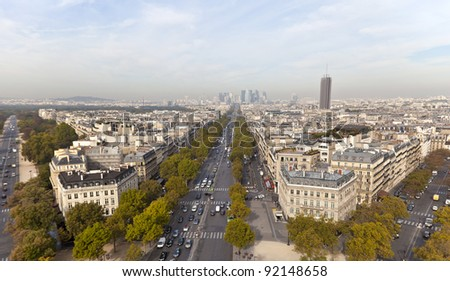 Avenue de la Grande Armée in Paris, France