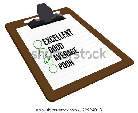 average customer rating illustration design over a white background