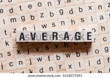 Average word concept on cubes ストックフォト ©