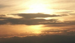 Aviation sunset