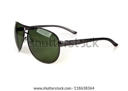 Aviator sunglasses isolated on white