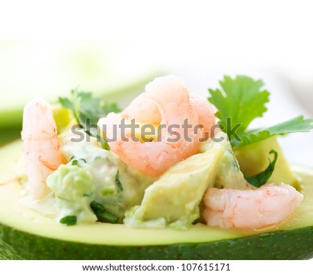 Avocado and Shrimps Salad. Appetizer