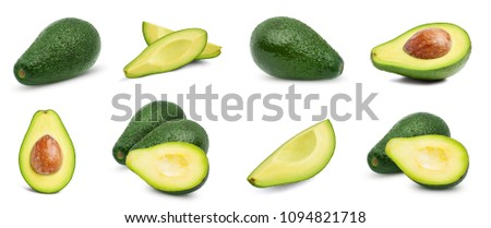 Avocado collection isolated on white background #1094821718