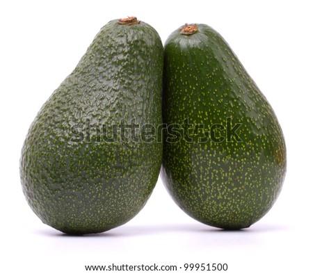 Avocado fruits isolated on white background