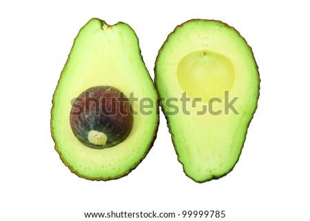 Avocado isolate white