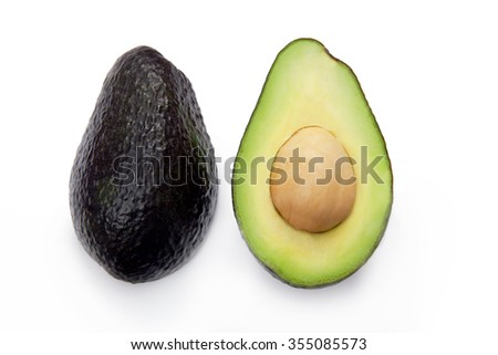 Avocado isolated on a white background Foto stock ©