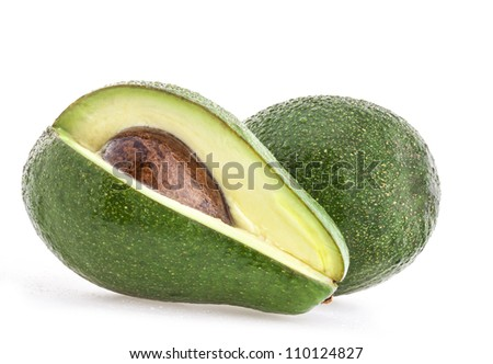 Avocado isolated on white background - stock photo