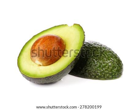 Avocado on white background Foto stock ©