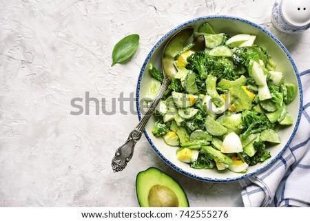 avocado salad with broccoli...
