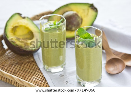 Avocado smoothie [ Healthy drink ]