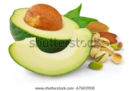 Avocado with dried nuts