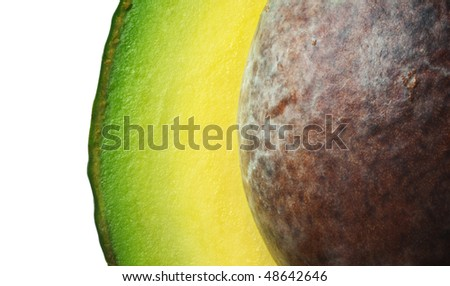 Avocado with seed (macro)
