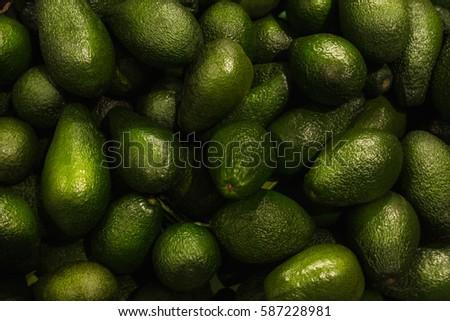 Avocados close up