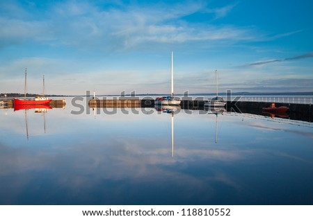 Avoch harbour, on the Black Isle, Highlands of Scotland