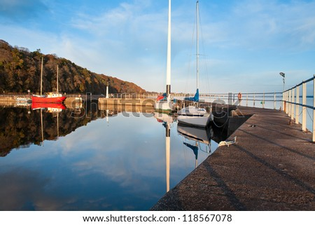 Avoch Harbour, Scotland, in late afternoon
