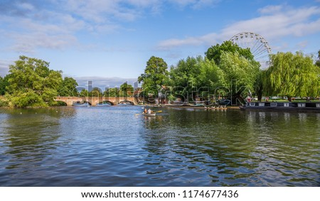 Avon canal, Stratford upon Avon, (William Shakespeare's town), Westmidlands, England