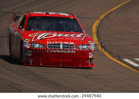 AVONDALE, AZ - APRIL 17: Kasey Kahne (9) drives his Dodge for qualification in the NASCAR Sprint Cup Series race at Phoenix International Raceway April 18, 2009 in Avondale, AZ.