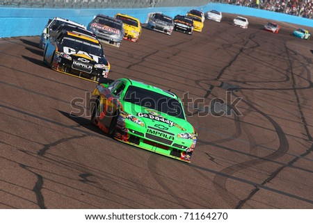 AVONDALE, AZ - NOV 14: Mark Martin (5) at speed in the Kobalt Tools 500 race on Nov 14, 2010 at the Phoenix International Raceway in Avondale, AZ.
