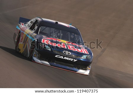 AVONDALE, AZ - OCT 5: Kasey Kahne (4) takes hot laps during a NASCAR Sprint Cup track testing session on Oct. 5, 2011 at Phoenix International Raceway in Avondale, AZ.