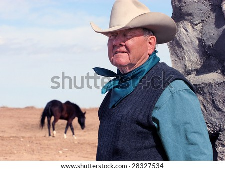 Avondale, CO - March 13: Pro Rodeo Hall of Fame member Harry Vold, pictured on his ranch near Avondale, CO on March 13, 2005, has won 11 PRCA Stock Contractor of the Year awards and is a legend in the sport.