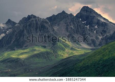 Avusor Yaylasından kemerli Kaçkar manzarası Stok fotoğraf ©