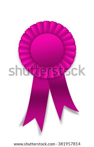 royalty free circular pleated purple winners rosette 359189225