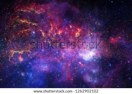 Awesome colorful nebula somewhere in endless universe. Elements of this image furnished by NASA