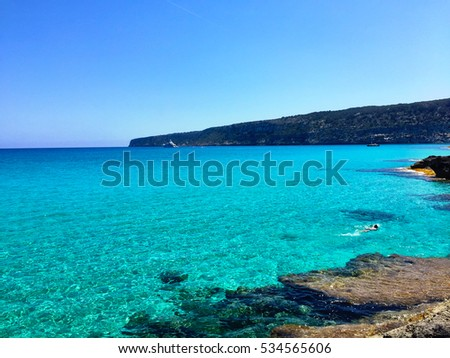 Awesome Formentera Island beach view in Spain. #534565606