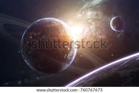 Awesome galaxy in deep space. Starfields of endless cosmos. Elements of this image furnished by NASA