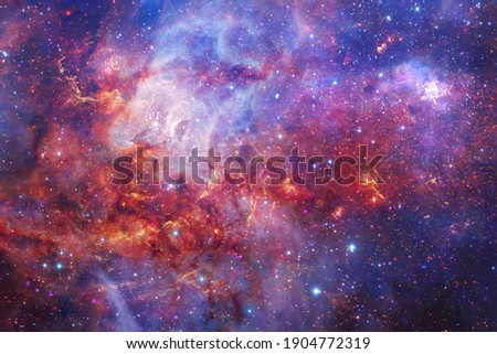 Awesome galaxy somewhere in outer space. Cosmic wallpaper. Elements of this image furnished by NASA