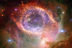 Awesome of endless cosmos. Science fiction wallpaper. Elements of this image furnished by NASA.