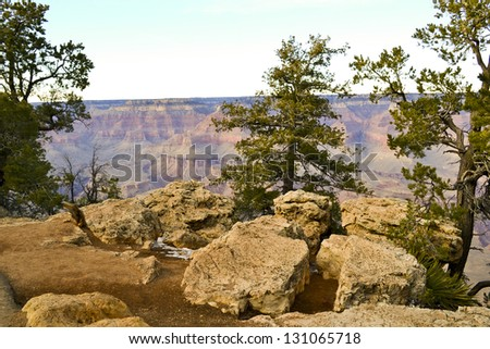 Awesome view of Grand Canyon in Arizona state. USA