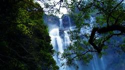 Awesome waterfall in Srilanka-  Bomburuella fall