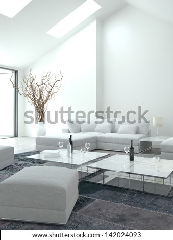 Awesome white Living Room   Interior Architecture