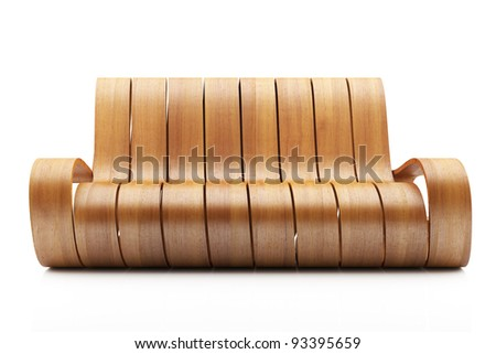 awesome wood couch on white background awesome office table top view shutterstock id