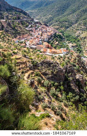 Ayna la Switzerland manchega anchored in the province of Albacete, Spain Stok fotoğraf ©