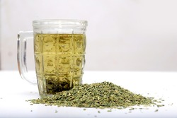 Ayurveda's fennel water for fat loss. fennel water  Stock Photo , fennel ,  Water With Fennel
