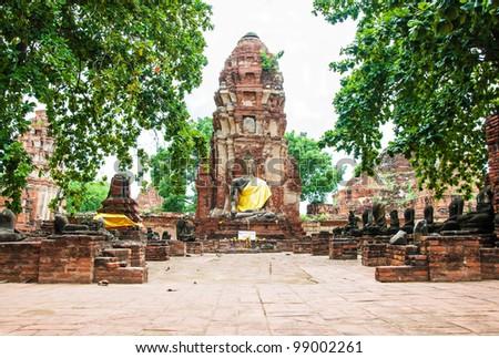 Ayutthaya Ancient Historical Park in Thailand